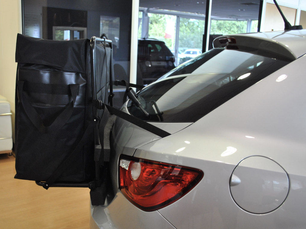 seat ibiza roof box photographed from the side