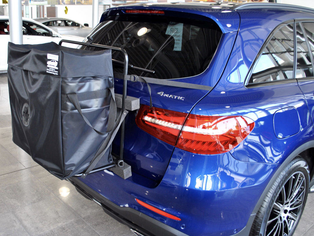 mercedes glc roof box side view