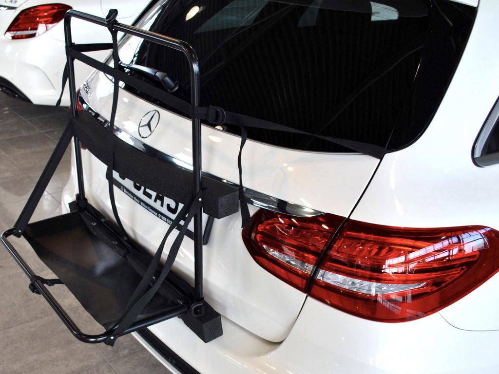 Mercedes c class estate roof box no bars no clamps no hassle for Mercedes benz c300 roof rack