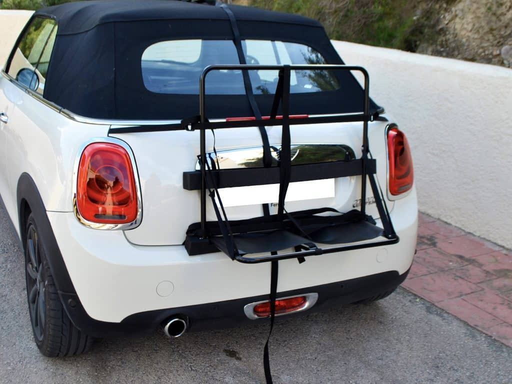 stage 2 of the hatch-bag luggage box for mini convertible being fitted